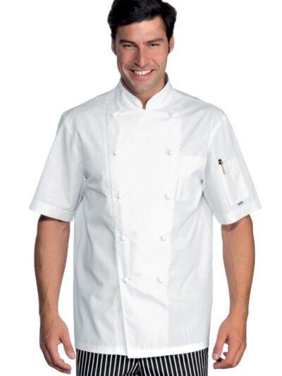Giacche Cuoco Unisex Bianche Manica Corta