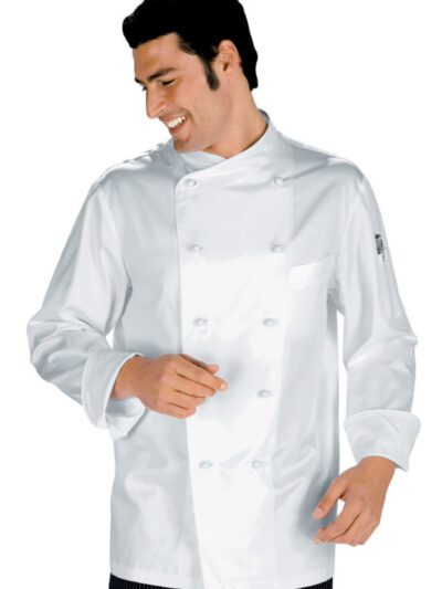 Giacche Cuoco Unisex Bianche Manica Lunga