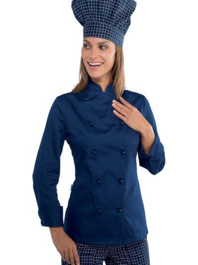 Giacche Cuoco Donna Colorate Manica Lunga