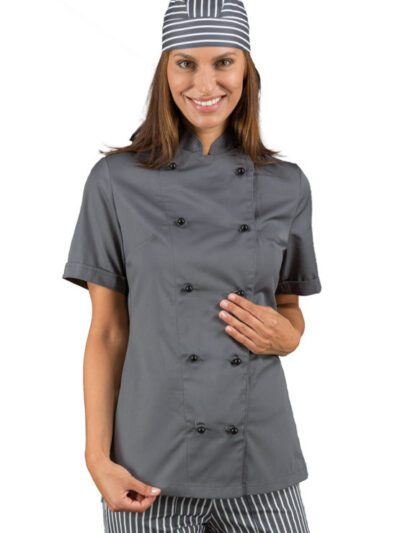 Giacche Cuoco Donna Colorate Manica Corta