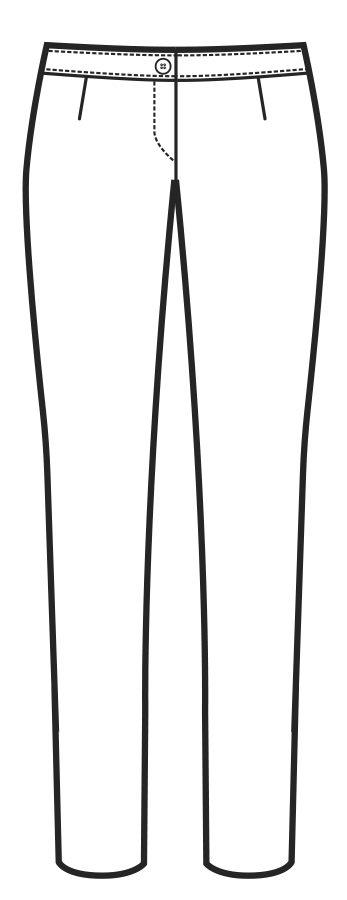 024800 pantalone donna slim A | Acquista Online La tua Divisa