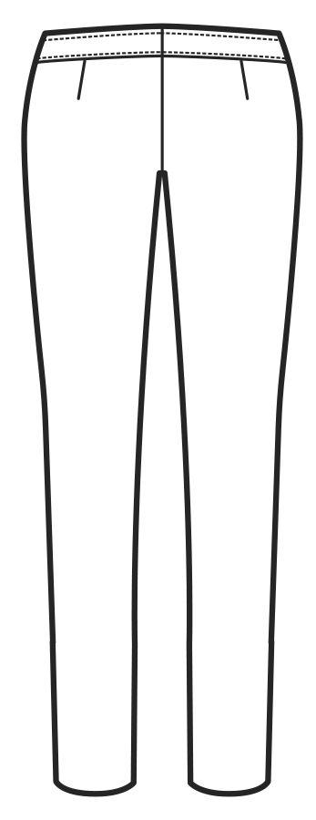 024800 pantalone donna slim B | Acquista Online La tua Divisa