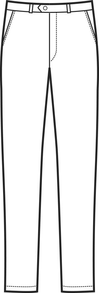 063500 pantalone senza pinces A | Acquista Online La tua Divisa